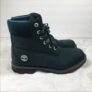 Timberland Special Edition Teal Boots Velvet Laces